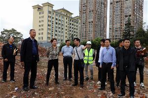 罗平县领导调研拟观摩重点项目建设情况